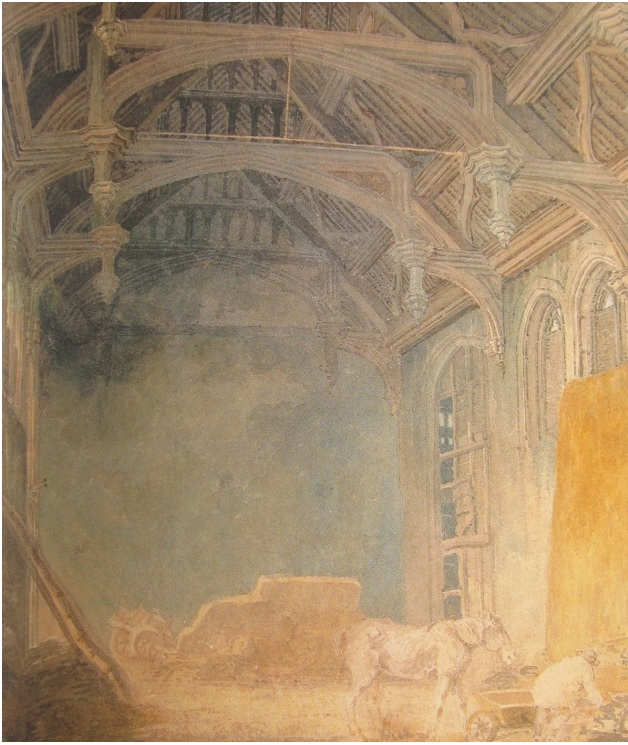 Interior of King John's Palace at Eltham