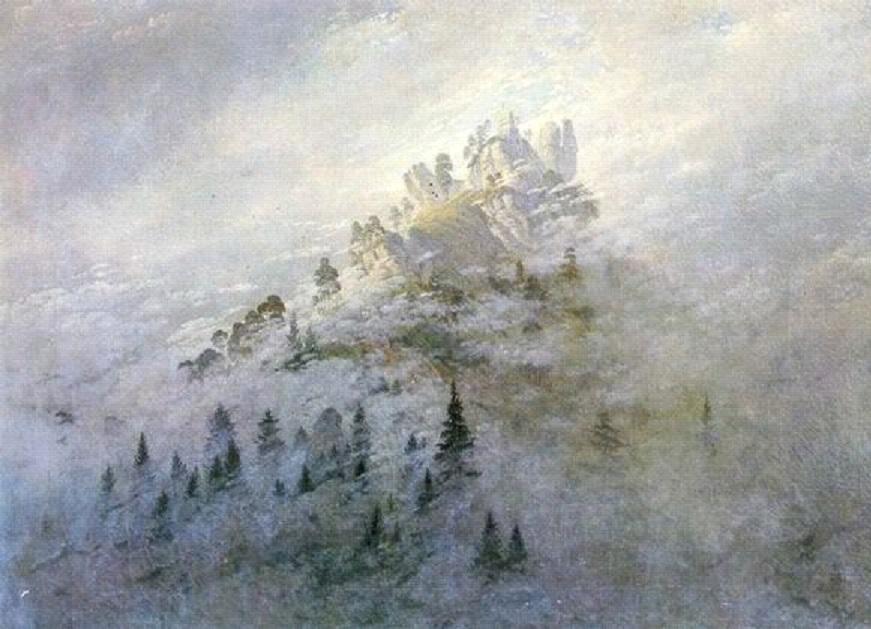 Morgennebel im Gebirge