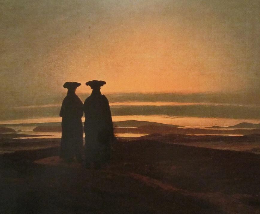 Abendlandschaft mit Zwei Männer