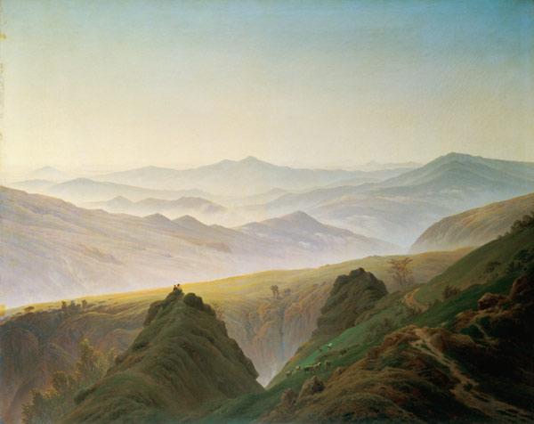 Der Morgen im Gebirge
