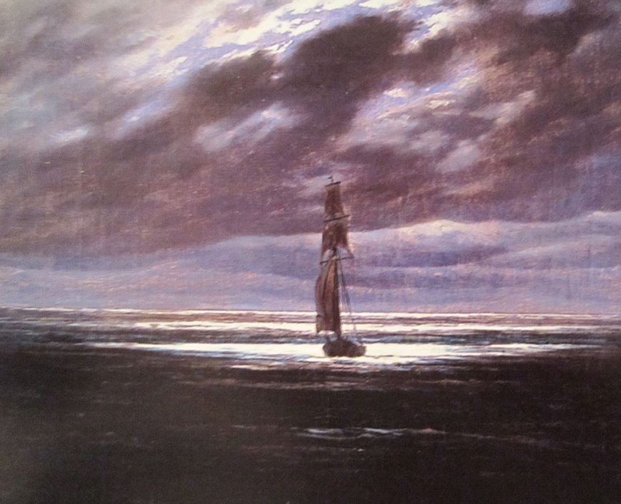 Seestück bei Mondschein