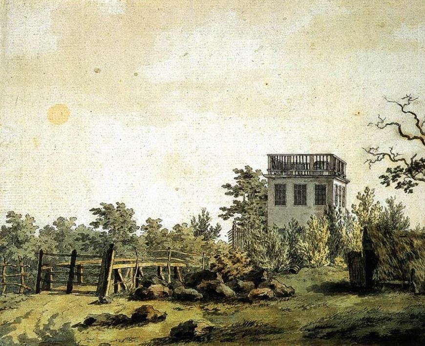 Landschaft mit Pavillon